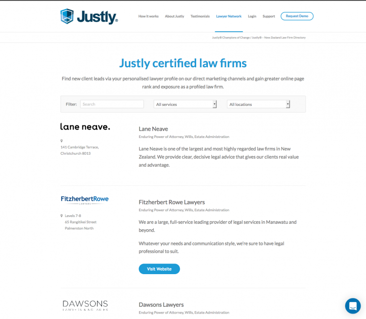 Justly® – New Zealand Law Firm Directory